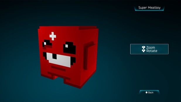 Super Meatboy created in Resogun's ship editor