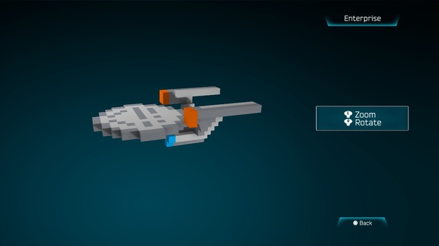 Enterprise created in Resogun's ship editor