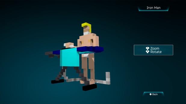 Iron Man created in Resogun's ship editor