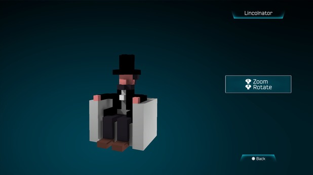 Lincolnator created in Resogun's ship editor