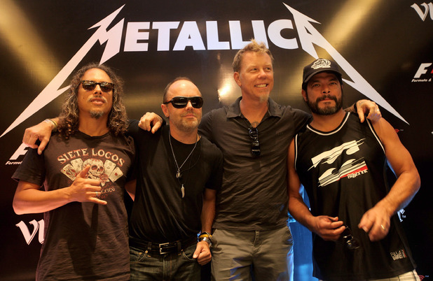 Metallica in Delhi, India in 2011.
