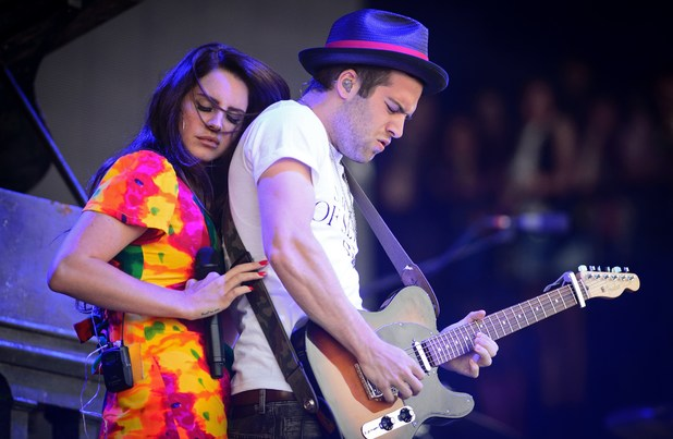 Lana Del Rey and her guitarist on the Pyramid Stage