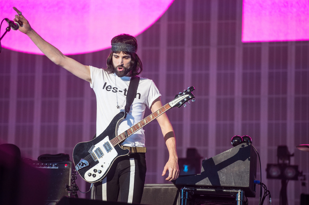 Kasabian play homecoming show in Leicester.