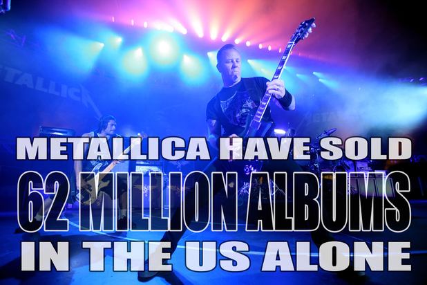 Metallica US album sales fact card.
