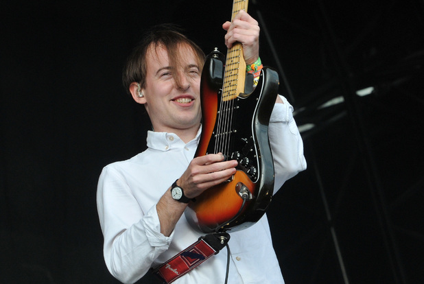 Jack Steadman of Bombay Bicycle Club performs on the Other stage