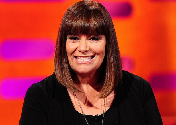 Dawn French during the filming of the Graham Norton Show