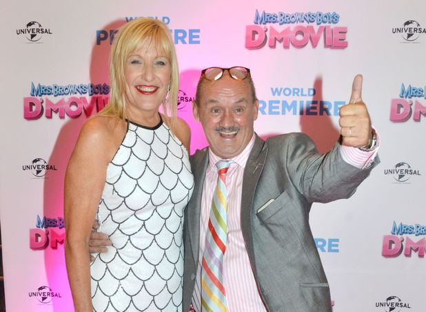 Jennifer Gibney and Brendan O'Carroll at the premiere of Mrs Brown's Boys D'Movie