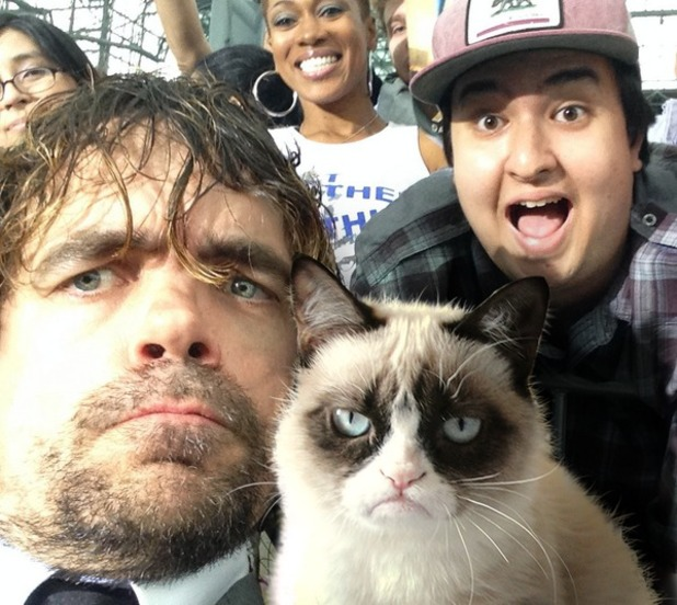 Peter Dinklage meets Grumpy Cat