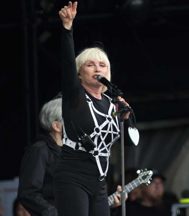 Debbie Harry of Blondie performs at Glastonbury Festival 2014