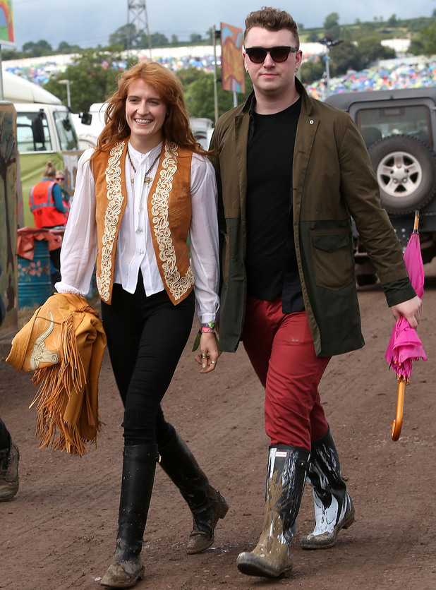 Florence Welch and Sam Smith