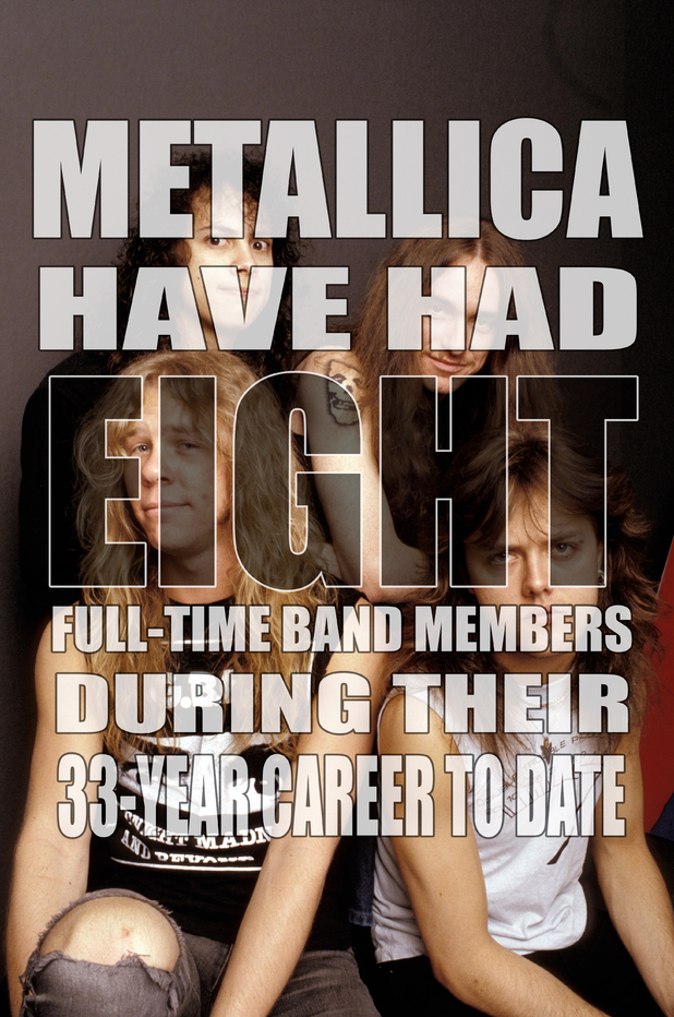 Metallica eight members fact card.