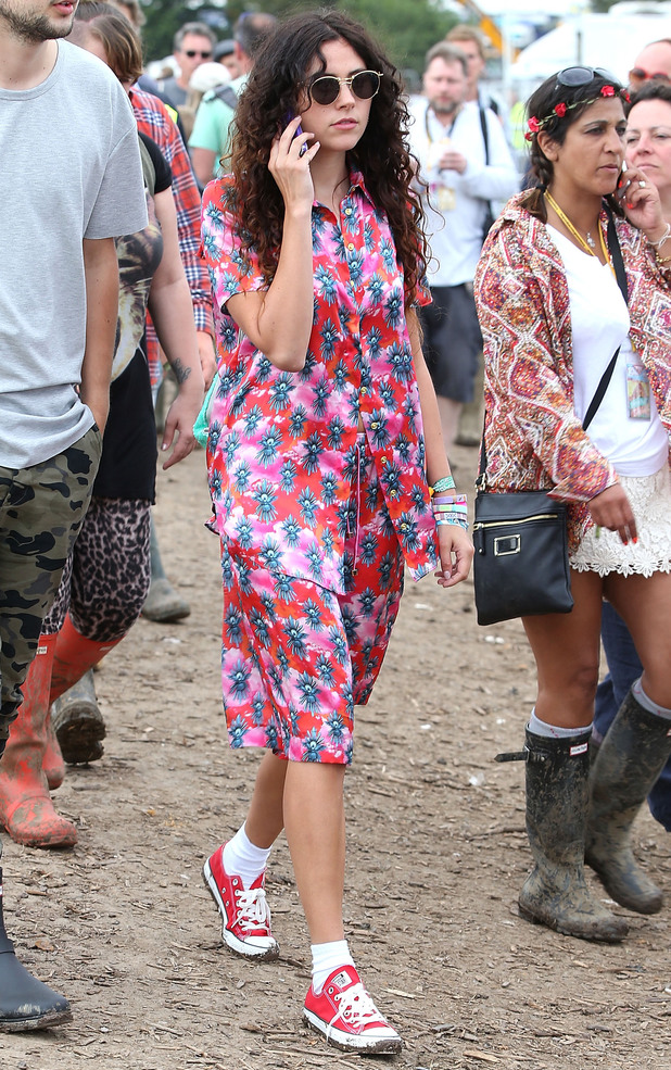 Eliza Doolittle attends the Glastonbury Festival