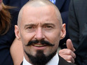 Actor shows off amazing handlebar moustache for Blackbeard role at Wimbledon.
