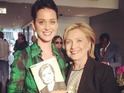 Hillary Rodham Clinton responds to Katy Perry's offer to write campaign song.