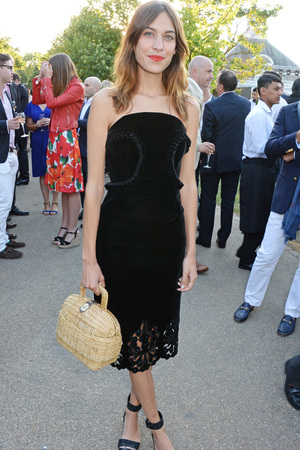 LONDON, ENGLAND - JULY 01: Alexa Chung attends The Serpentine Gallery Summer Party co-hosted by Brioni at The Serpentine Gallery on July 1, 2014 in London, England. (Photo by David M. Benett/Getty Images for The Serpentine)