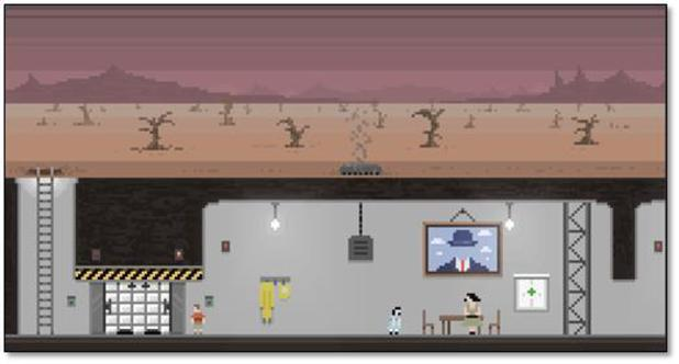 Sheltered in a post-apocalyptic survival game for PC