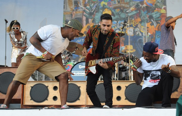 Rudimental perform at Glastonbury 2014.