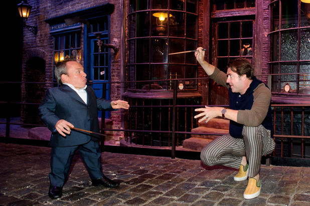 Jonathan Ross and Warwick Davies at a Harry Potter Summer Screenings event