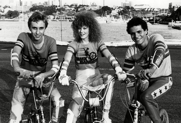 James Lugton (Goose), Nicole Kidman (Judy) and Angelo d'Angelo (P.J) in BMX Bandits
