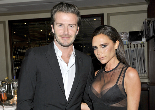 David Beckham (L) and Victoria Beckham attend a dinner to celebrate the 2013 CFDA/Vogue Fashion Fund Finalists