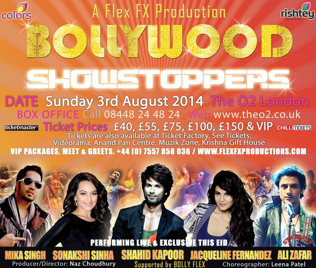 Bollywood Showstoppers Summer 2014 poster