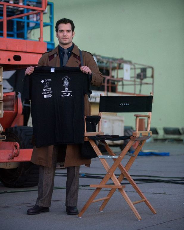 Henry Cavill supports The Royal Marines Charitable Trust Fund
