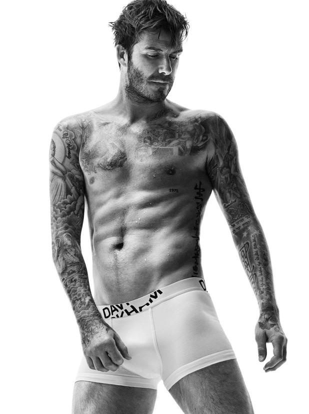 H&M Beckham AW14 Bodywear collection