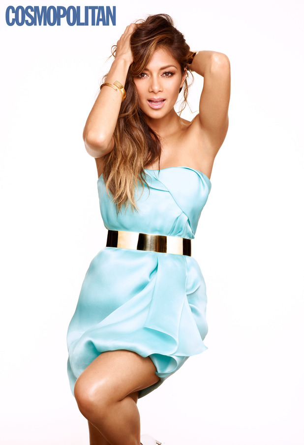 Nicole Scherzinger in the August issue of Cosmopolitan