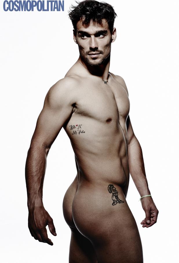 Fabio Fognini poses naked for Cosmopolitan