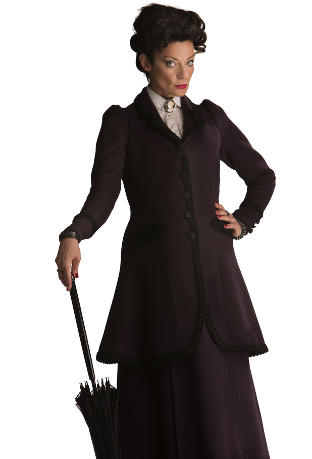 Michelle Gomez as the Gamekeeper of the Nethersphere in Doctor Who