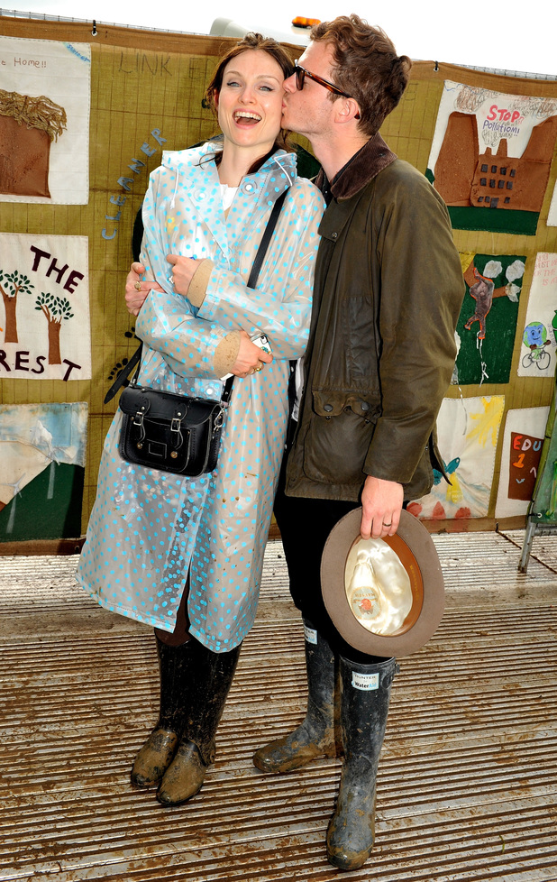 Sophie Ellis Bextor and Richard Jones attend the Glastonbury Festival 2014