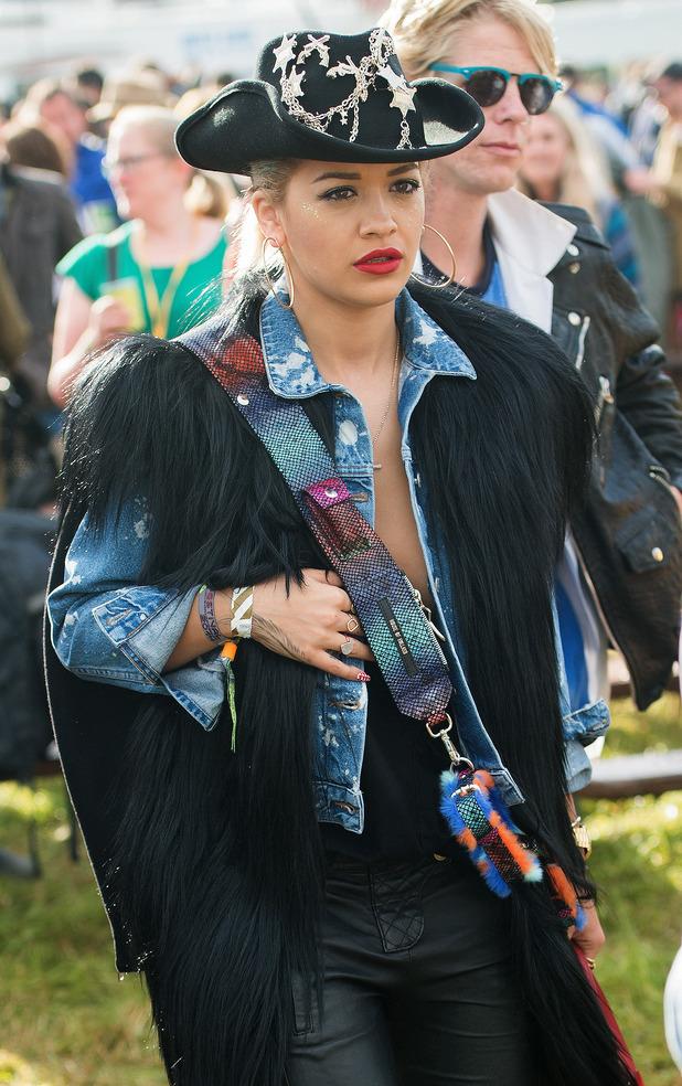 Rita Ora attend the Glastonbury Festival 2014