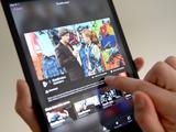 The BBC iPlayer App is used on an Apple iPad mini