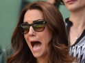 Prince William and the Duchess of Cambridge can't look as Andy Murray exits Wimbledon.