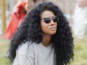 Kelis attends the Glastonbury Festival 2014