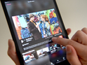 The BBC iPlayer App is used on an Apple iPad mini