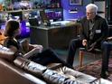 Sara Sidle (Jorja Fox) and D.B. Russell (Ted Danson) in the 300th episode of CSI