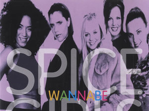 Spice Girls 'Wannabe' Japanese single cover.