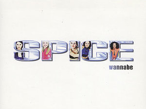 Spice Girls 'Wannabe' single artwork.