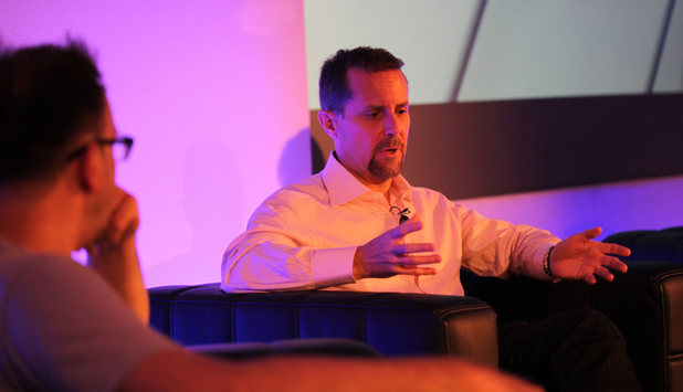 Andrew House speaking at the Develop conference in Brighton
