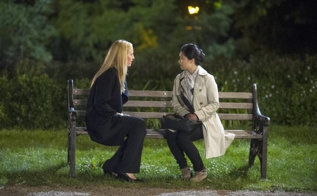 Kim Raver as Audrey & Tuyen Do as Jiao Sim in 24: Live Another day episode 11 - '9:00 - 10:00PM'