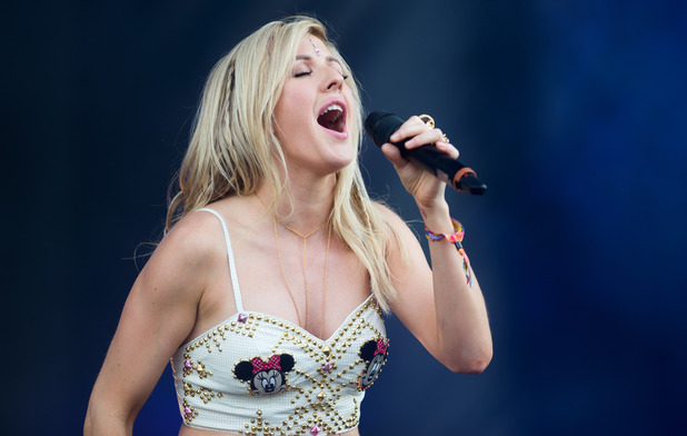Ellie Goulding performs on stage at the Wireless Festival London