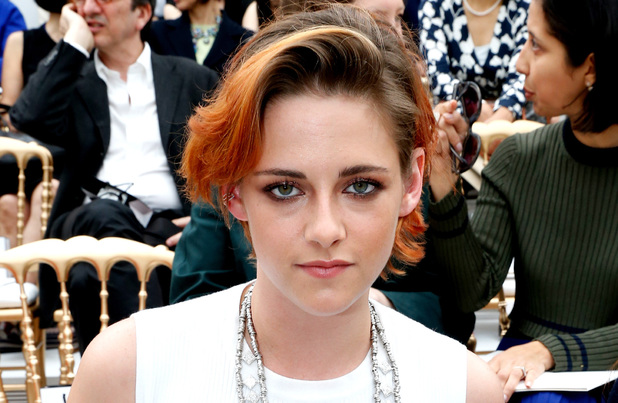 PARIS, FRANCE - JULY 08: Actress Kristen Stewart attends the Chanel show as part of Paris Fashion Week - Haute Couture Fall/Winter 2014-2015. Held at Grand Palais on July 8, 2014 in Paris, France. (Photo by Rindoff/Dufour/French Select/Getty Images)