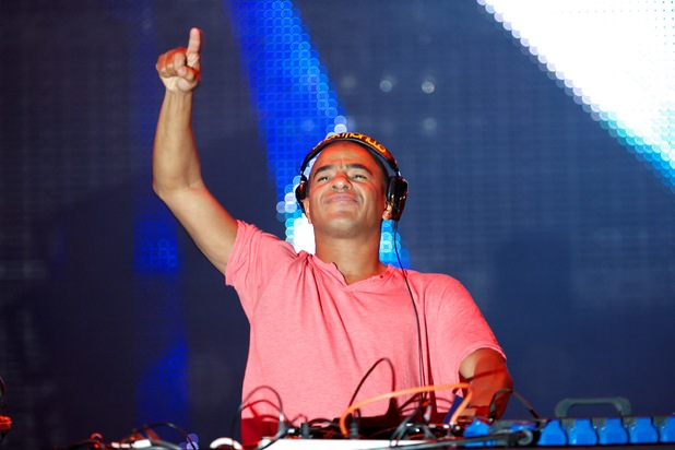 Erick Morillo performs on stage during Rock in Rio Madrid