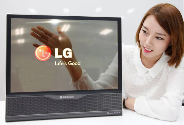 LG's transparent TV display
