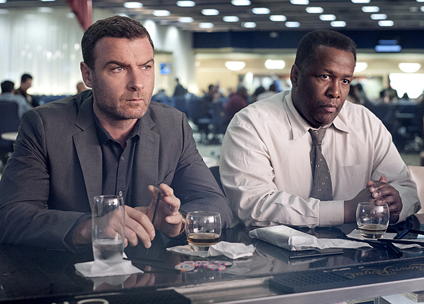 Liev Schreiber as Ray Donovan and Wendell Pierce as Mr. Keith in Ray Donovan: Season 2, Episode 2