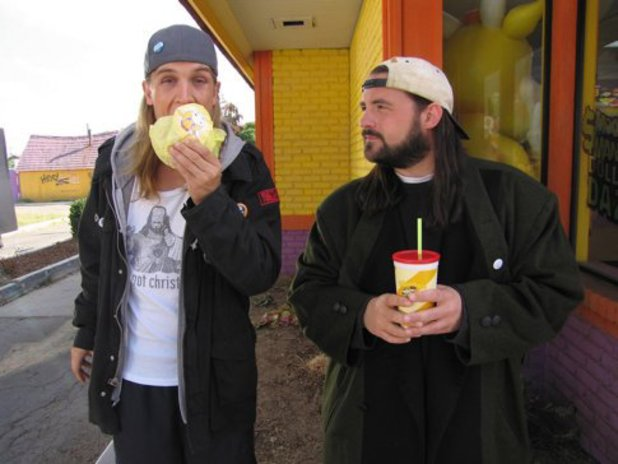 Kevin Smith and Jason Mewes in Clerks II (2006)