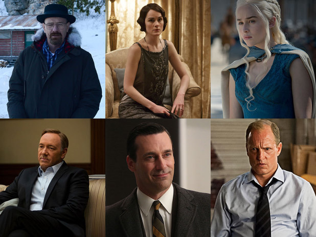 The Emmy awards Outstanding Drama Series nominees: Breaking Bad, Downton Abbey, Game of Thrones, House of Cards, Mad Men, True Detective