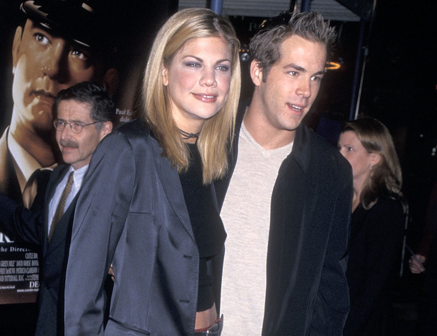 WESTWOOD, CA - DECEMBER 6: Actress Kristen Johnston and actor Ryan Reynolds attend 'The Green Mile' Westwood Premiere on December 6, 1999 at the Mann Village Theatre in Westwood, California. (Photo by Ron Galella, Ltd./WireImage)