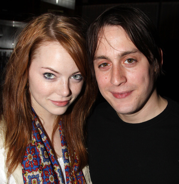 NEW YORK - NOVEMBER 16: *Exclusive Coverage* Emma Stone and boyfriend Kieran Culkin attend the 'The Starry Messenger' cast party at Montenapo Restaurant on November 16, 2009 in New York City. (Photo by Bruce Glikas/FilmMagic)